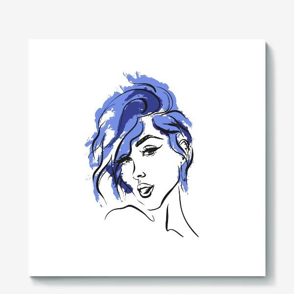 Холст «Storm | Color hair | Fashion cкетч»