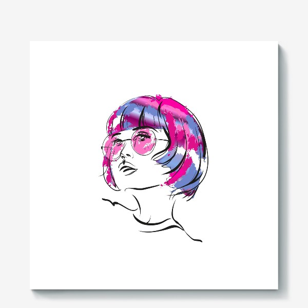 Холст «Lollipop | Color hair | Fashion cкетч»