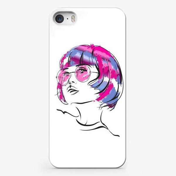 Чехол iPhone «Lollipop   Color hair   Fashion cкетч»