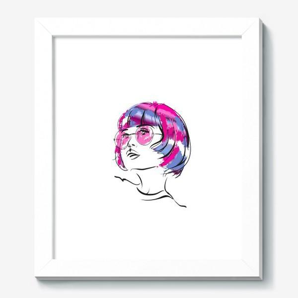 Картина «Lollipop   Color hair   Fashion cкетч»