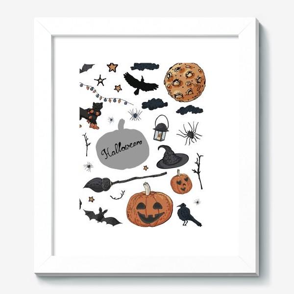 Картина «Композиция из символов Хэллоуина»