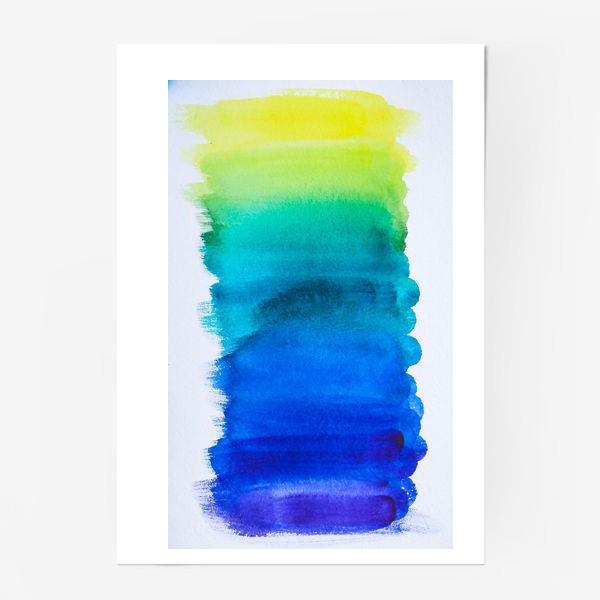 Постер «Выкраска - лазурь»