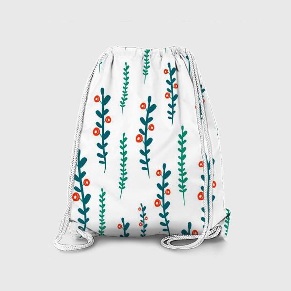 Рюкзак «веточки с ягодами»