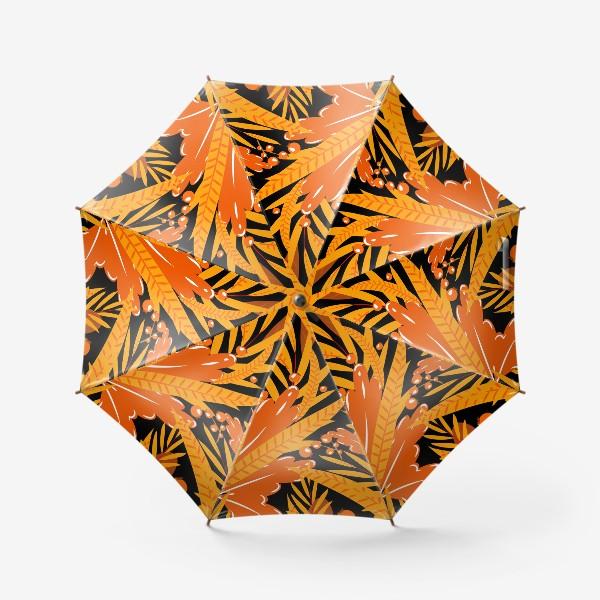 Зонт «осенние листья и ягоды»