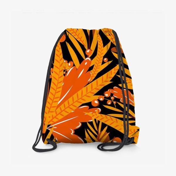Рюкзак «осенние листья и ягоды»