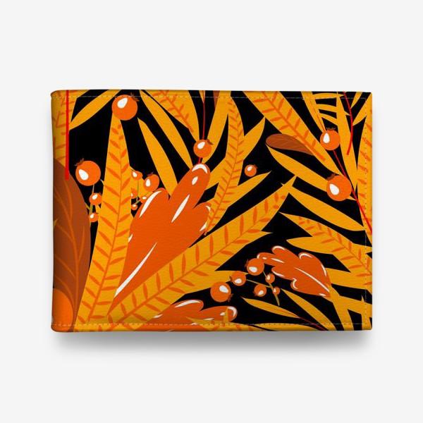 Кошелек «осенние листья и ягоды»