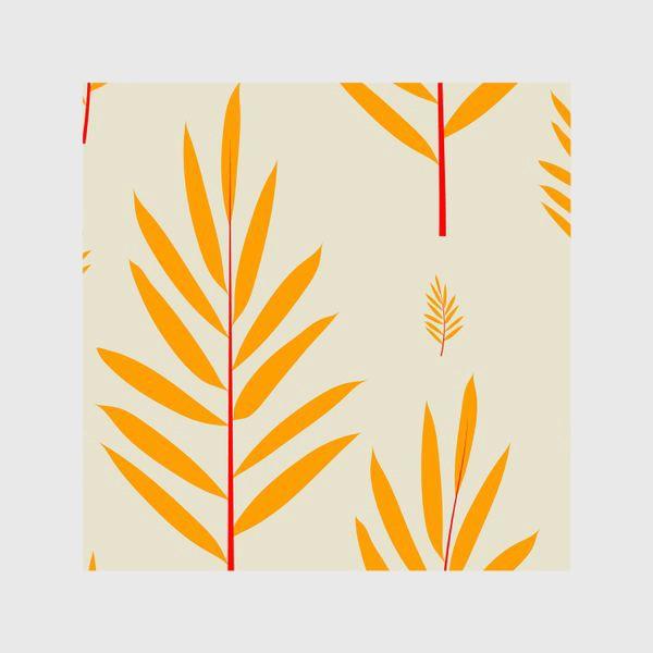Шторы «тропические листья,перья»
