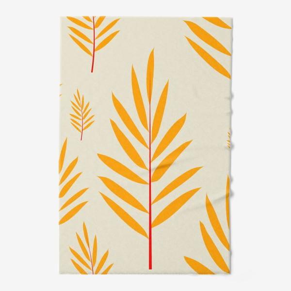 Полотенце «тропические листья,перья»
