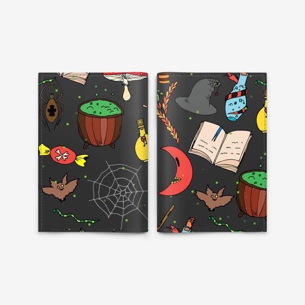 Обложка для паспорта «колдовской хэллоуин»