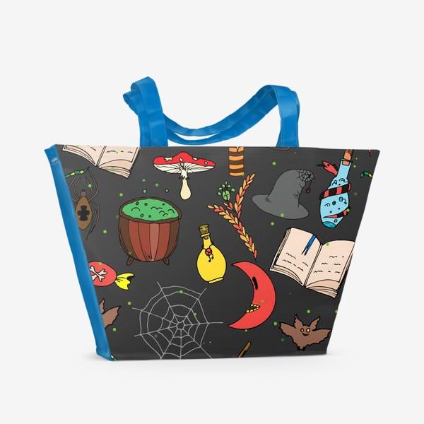 Пляжная сумка «колдовской хэллоуин»