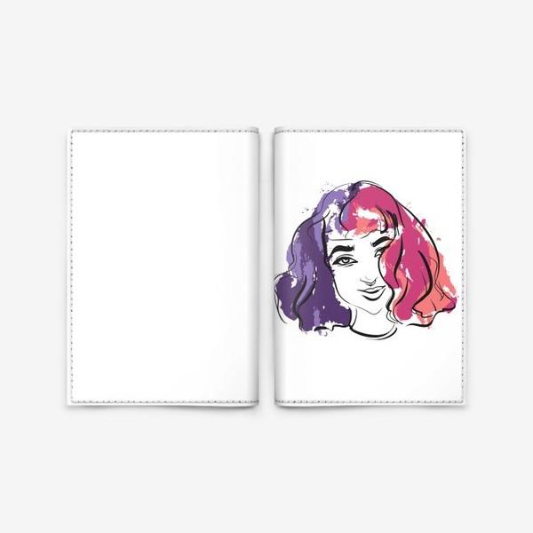 Обложка для паспорта «Viola | Color hair | Fashion cкетч»