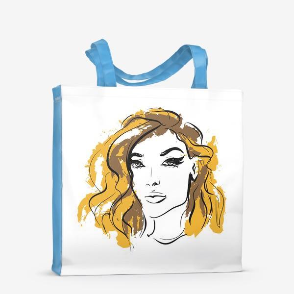 Сумка-шоппер «Ocher   Color hair   Fashion cкетч»