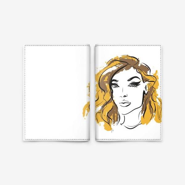Обложка для паспорта «Ocher | Color hair | Fashion cкетч»