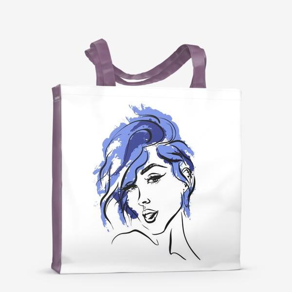 Сумка-шоппер «Storm   Color hair   Fashion cкетч»