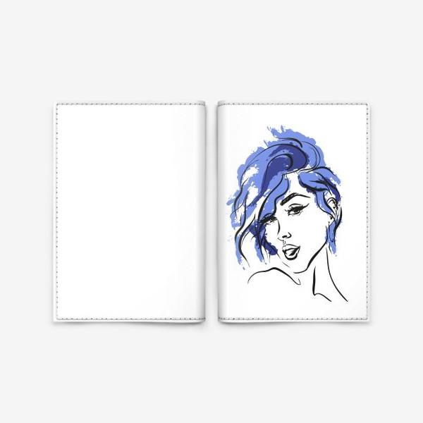 Обложка для паспорта «Storm | Color hair | Fashion cкетч»