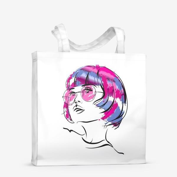 Сумка-шоппер «Lollipop | Color hair | Fashion cкетч»