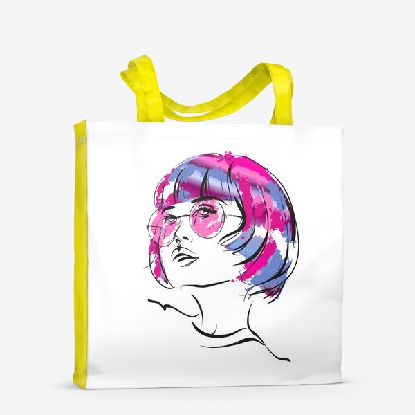 Сумка-шоппер «Lollipop   Color hair   Fashion cкетч»