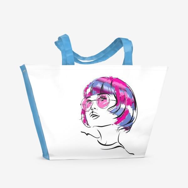 Пляжная сумка «Lollipop   Color hair   Fashion cкетч»
