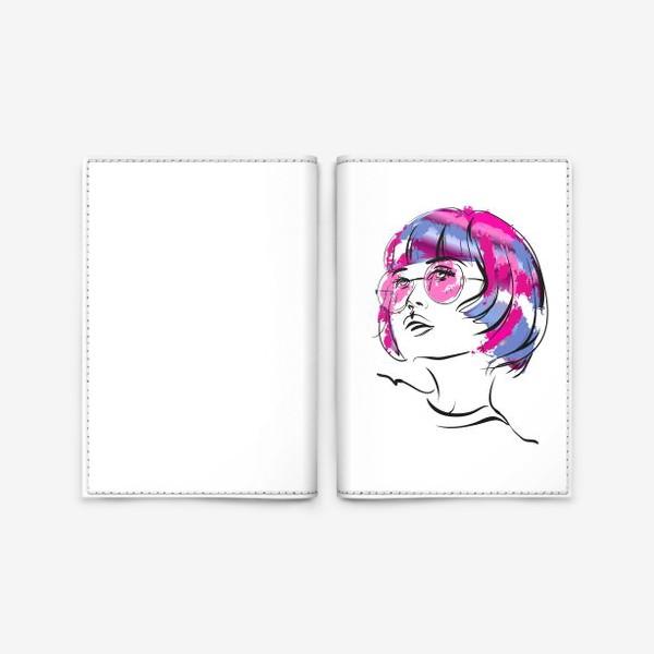 Обложка для паспорта «Lollipop | Color hair | Fashion cкетч»