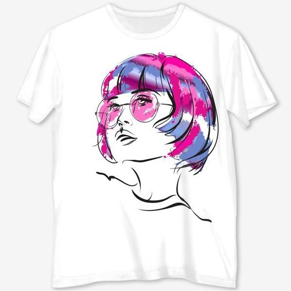 Футболка с полной запечаткой «Lollipop   Color hair   Fashion cкетч»