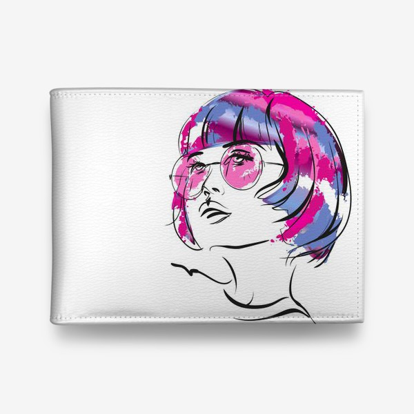 Кошелек «Lollipop | Color hair | Fashion cкетч»