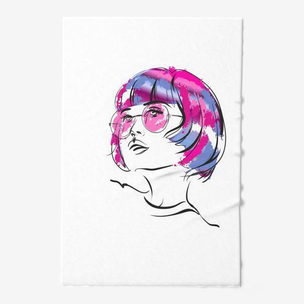 Полотенце «Lollipop   Color hair   Fashion cкетч»