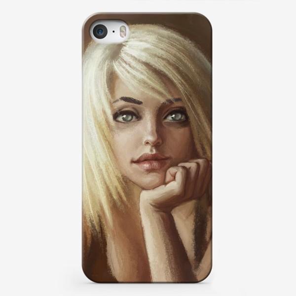 Чехол iPhone «Влюбленная девушка блондинка»