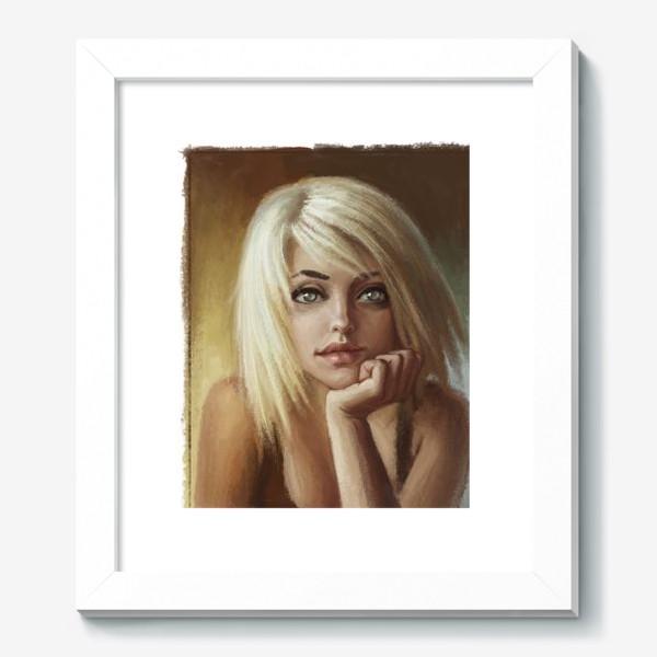 Картина «Влюбленная девушка блондинка»