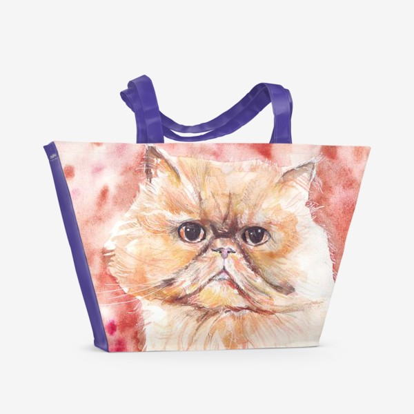 Пляжная сумка «Персидский кот»