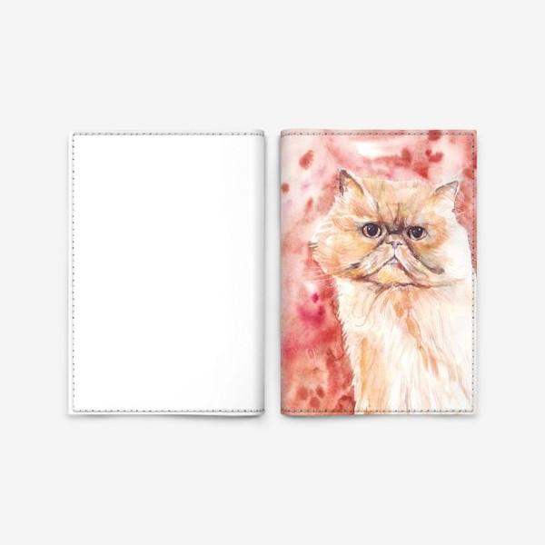 Обложка для паспорта «Персидский кот»