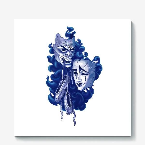 Холст «Две маски и пуанты балерины»