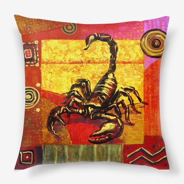 Подушка «Скорпион знак зодиака»