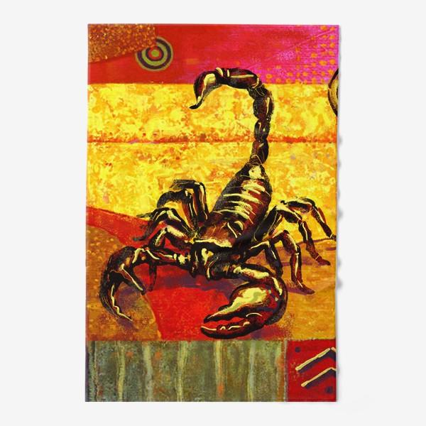 Полотенце «Скорпион знак зодиака»