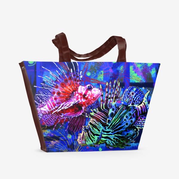 Пляжная сумка «Рыбы знак зодиака»