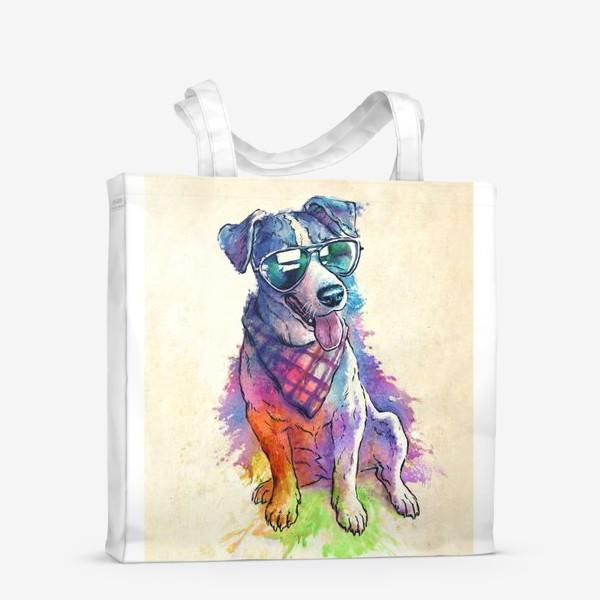 Сумка-шоппер «Акварельный пес»