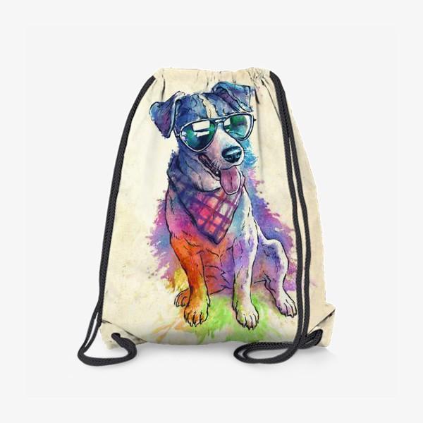 Рюкзак «Акварельный пес»