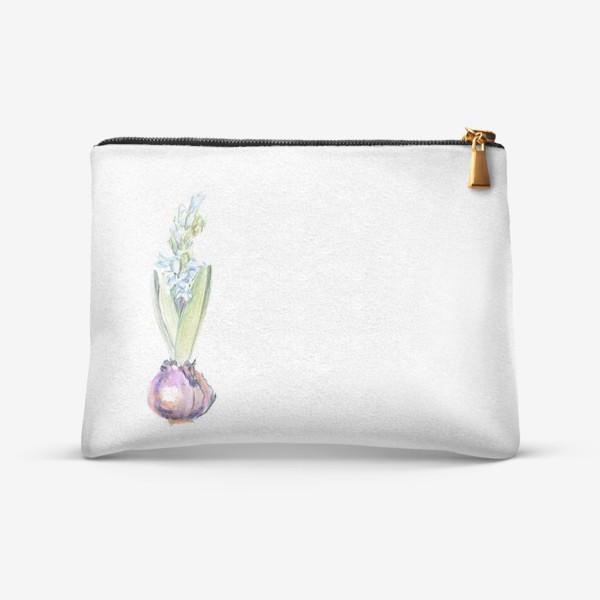 Косметичка «Акварельный цветок гиацинта»