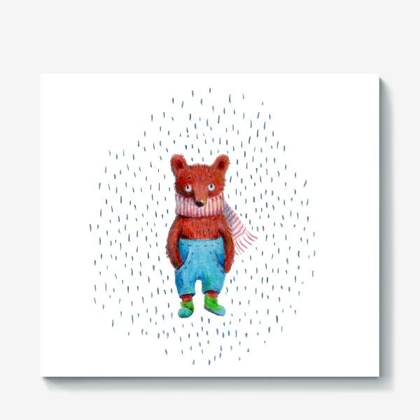 Холст «Медведь в голубых штанах»
