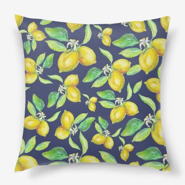 Подушка «лимонное настроение»