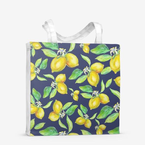 Сумка-шоппер «лимонное настроение»