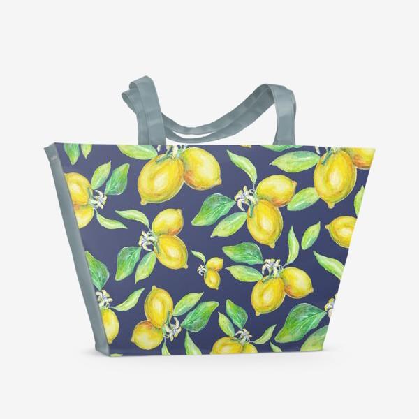 Пляжная сумка «лимонное настроение»