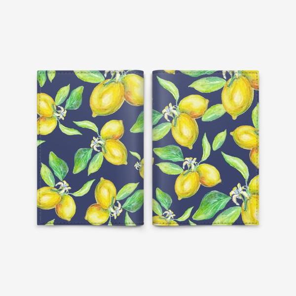 Обложка для паспорта «лимонное настроение»