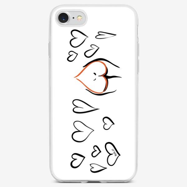 Чехол iPhone «Different   Сердца»