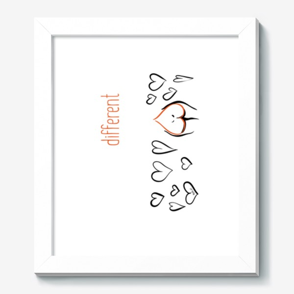 Картина «Different | Сердца»