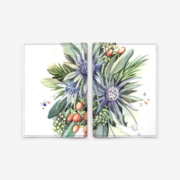 Обложка для паспорта «Зимний букет»