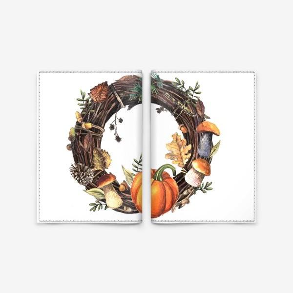Обложка для паспорта «Осенний венок»