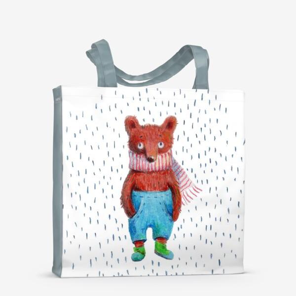 Сумка-шоппер «Медведь в голубых штанах»