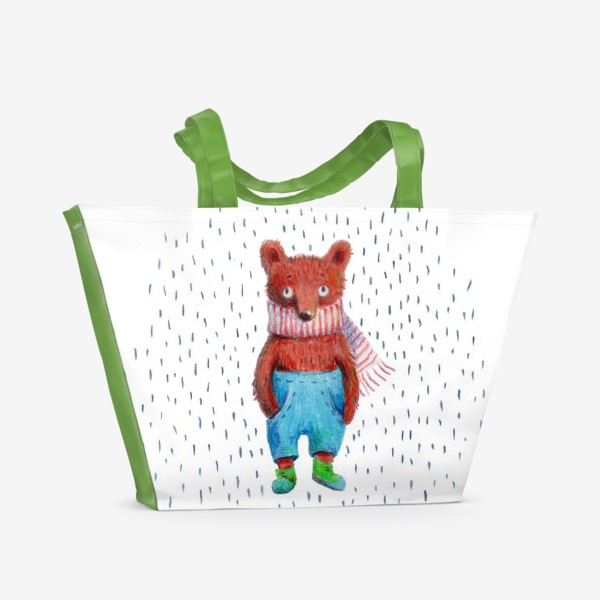 Пляжная сумка «Медведь в голубых штанах»