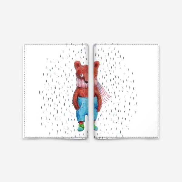 Обложка для паспорта «Медведь в голубых штанах»
