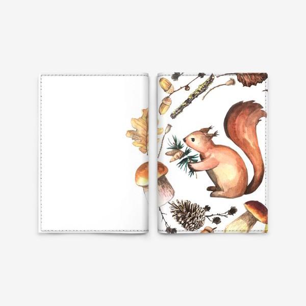 Обложка для паспорта «Белочка в осеннем лесу»